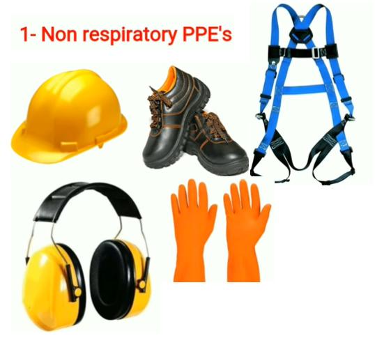 Non respiratory PPE's